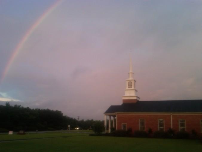 Church after tornado 6-18-13