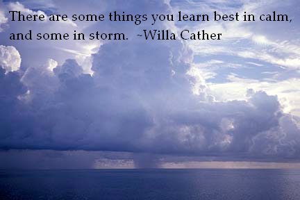 Cather storm quote