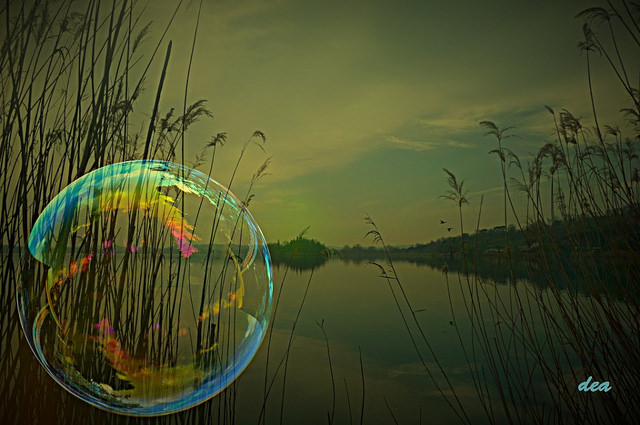 Bubble in reeds